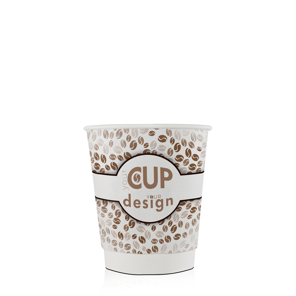 Paper cups for hot beverages 8oz custom printed by cup print